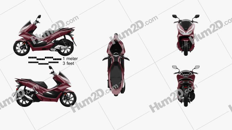 Honda PCX 150 2019 Clipart Image