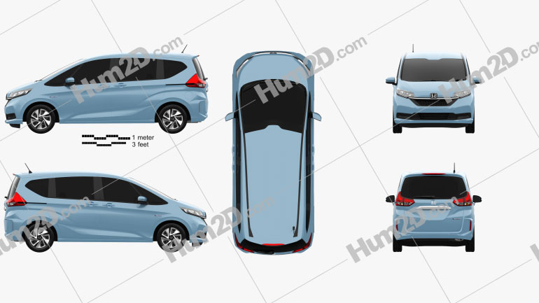 Honda Freed Hybrid 2019 clipart