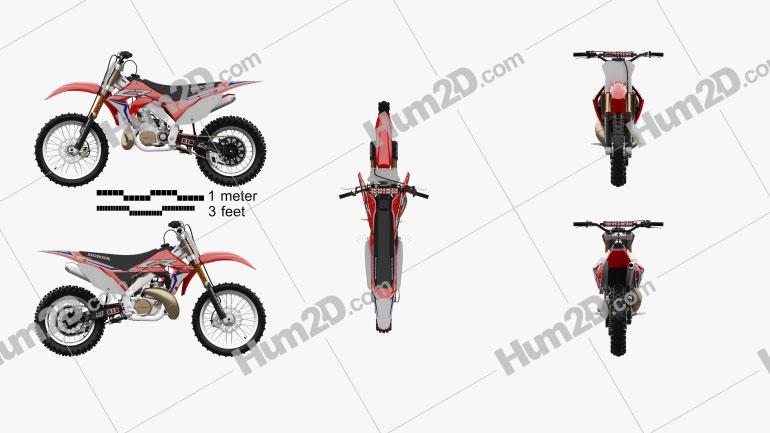 Honda CR250 2002 Moto clipart
