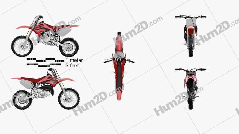 Honda CR85R 2002 Moto clipart