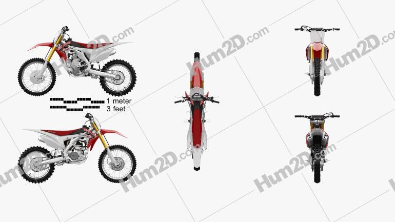 Honda CRF250R 2014 Moto clipart