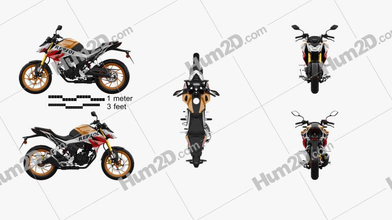 Honda CB190R 2020 Moto clipart