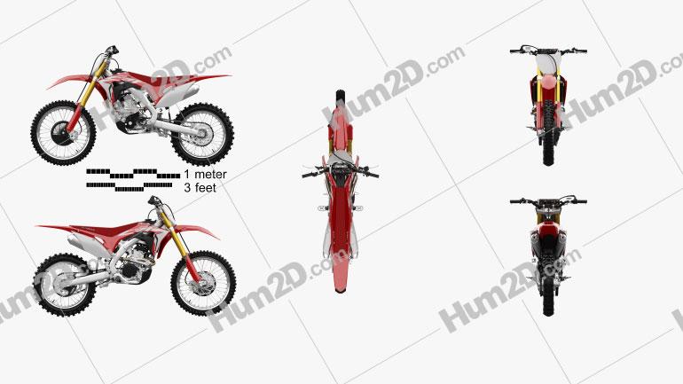 Honda CRF250R 2018 Moto clipart