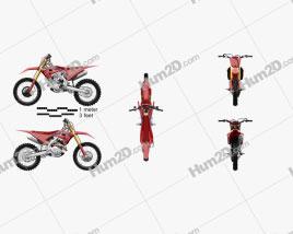 Honda CRF450R 2021 Motorcycle clipart