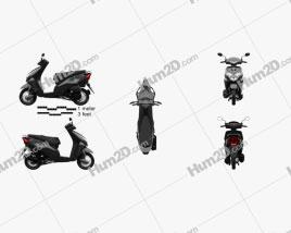 Honda Dio 2020 Motorcycle clipart