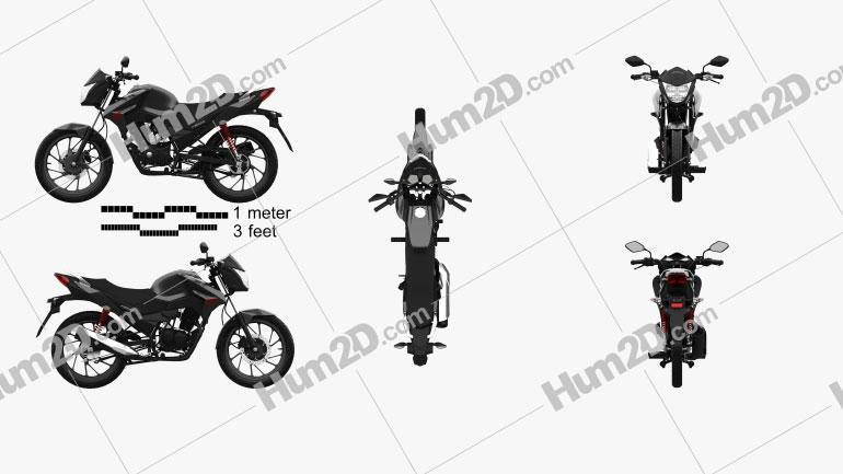Honda CB125F 2020 Moto clipart
