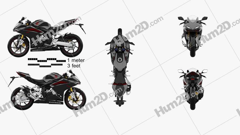 Honda CBR250RR 2020 Moto clipart