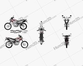 Honda XR150 L 2020 Motorcycle clipart