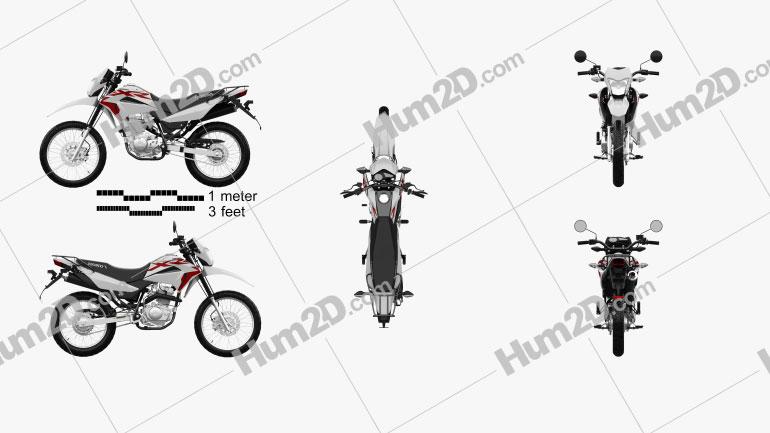 Honda XR150 L 2020 Clipart Image