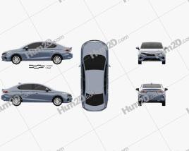 Honda City 2020 car clipart
