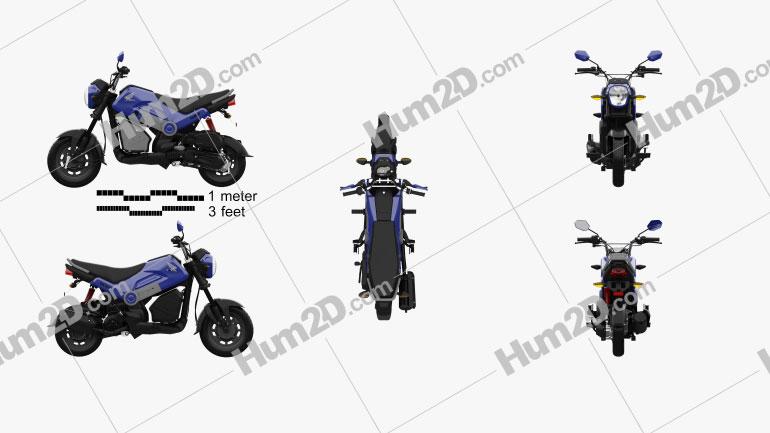 Honda Navi 2020 Moto clipart