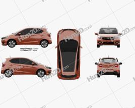 Honda Brio RS hatchback 2020 car clipart