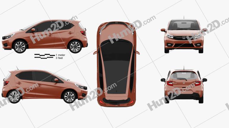 Honda Brio RS Schrägheck 2020 car clipart