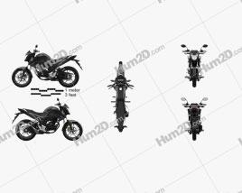 Honda CB160F 2020 Clipart