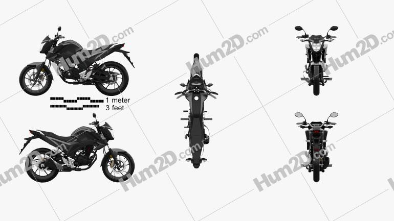 Honda CB160F 2020 Clipart Image