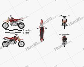 Honda CRF50F 2004 Motorcycle clipart