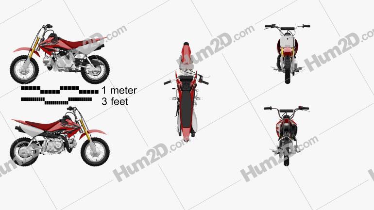 Honda CRF50F 2004 Motorrad clipart