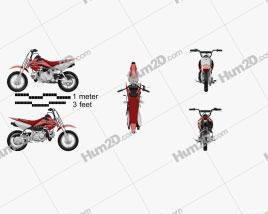 Honda CRF50F 2014 Motorcycle clipart