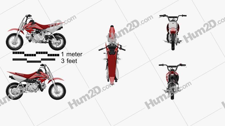 Honda CRF50F 2014 Motorrad clipart
