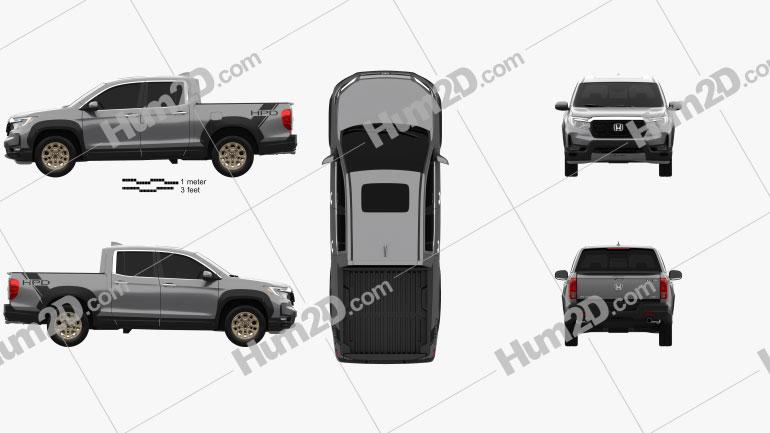 Honda Ridgeline 2021 car clipart