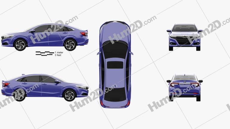 Honda Crider hybrid 2020 car clipart