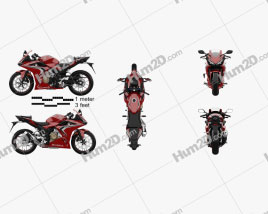 Honda CBR500R ABS 2020 Motorcycle clipart
