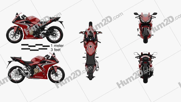 Honda CBR500R ABS 2020 Motorrad clipart