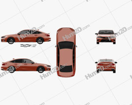 Honda Civic sedan 2022 car clipart