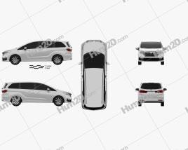 Honda Odyssey Absolute 2021 clipart