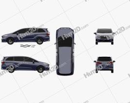 Honda Odyssey e-HEV Absolute EX 2021 clipart