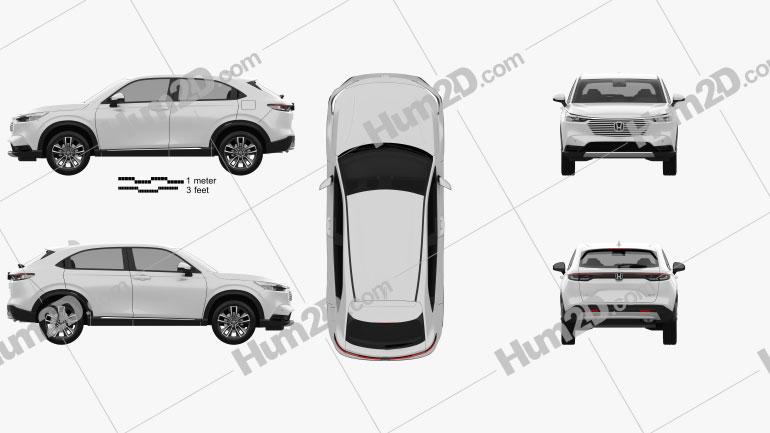 Honda HR-V e-HEV 2022 car clipart