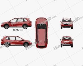 Honda BR-V with HQ interior 2016 car clipart