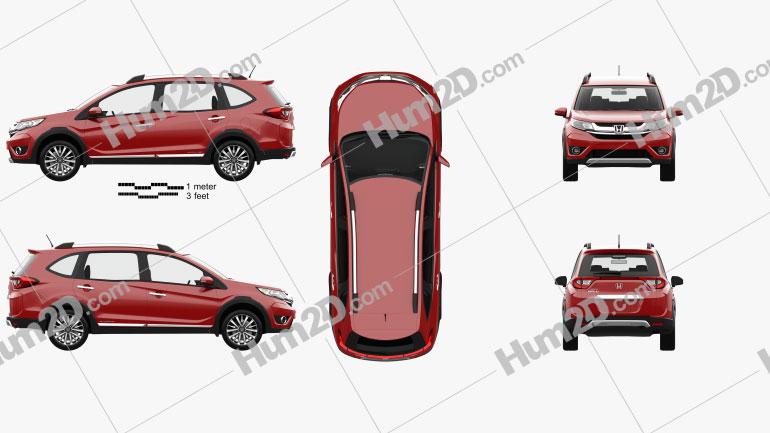 Honda BR-V mit HD Innenraum 2016 car clipart