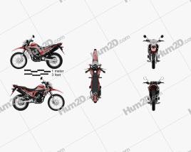 Honda XR190L 2020 Motorcycle clipart