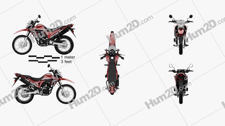 Honda XR190L 2020 Motorrad clipart