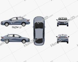 Honda City with HQ interior 2019 car clipart