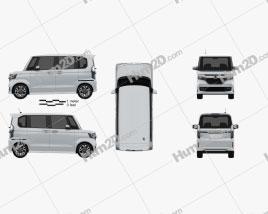 Honda N-Box Custom 2021 clipart