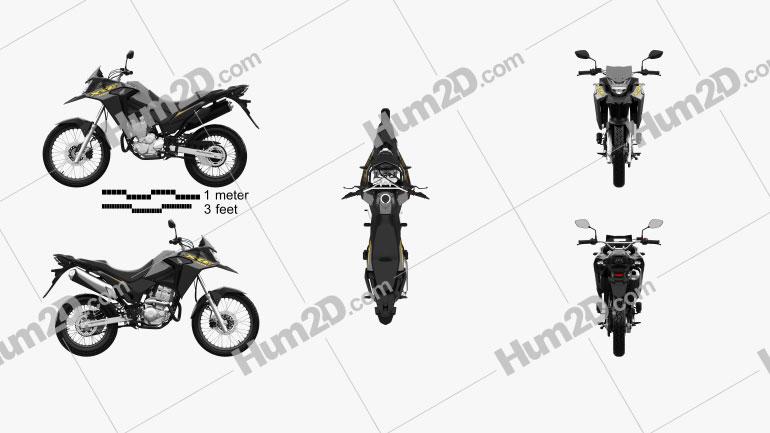 Honda XRE300 ABS 2022 Motorrad clipart