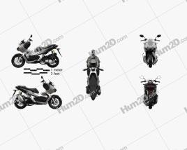 Honda ADV 150 2021 Motorcycle clipart