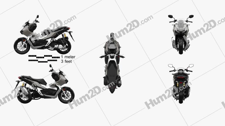 Honda ADV 150 2021 Motorrad clipart