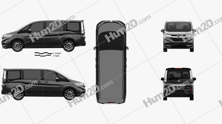 Honda StepWGN ModuloX 2021 clipart