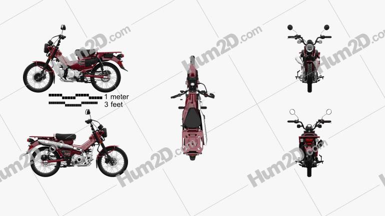 Honda CT125 2021 Motorrad clipart