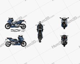 Honda Forza 750 2021 Motorcycle clipart