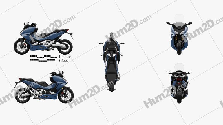 Honda Forza 750 2021 Motorrad clipart