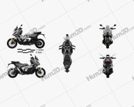 Honda X-ADV 750 2021 Motorcycle clipart