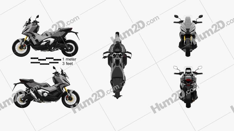 Honda X-ADV 750 2021 Motorrad clipart