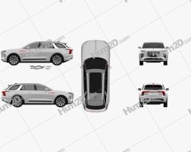 Hongqi E-HS9 2020 car clipart