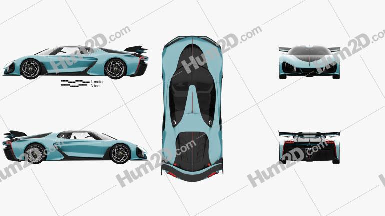 Hongqi S9 2020 car clipart