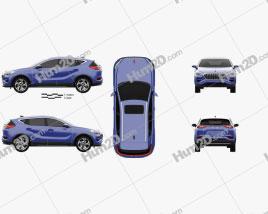 Hongqi E-HS3 2019 car clipart