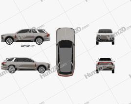 Hongqi E115 2019 car clipart